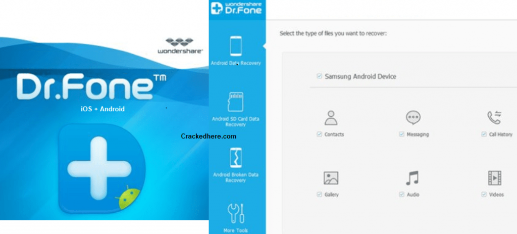 Wondershare Dr. Fone Crack is an associate degree application that you simply will use to recover back